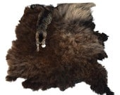 Cat Bed - Felted Wool Fleece Rug - Navajo Churro Brown Gray - Supporting US Small Farms - Not a Sheepskin - Better