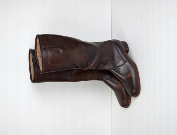 vintage sears brown rubber boots s size