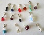 OOAK Stitch Marker Zipper Pull Charm Grab Bag Handmade Knit Crochet Stitch Marker Wire Wrapped Removable