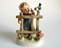 Goebel Hummel Girl By Fence  Signs of Spring Vintage Figurine