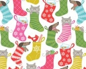 Fabric by the Yard- Even A Mouse- Stocking by Maude Asbury for Blend