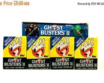 ON SALE 4 Ghostbusters Trading Card & Sticker Packs by Topps