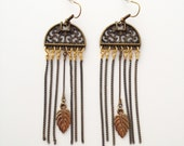 Brass Chandelier Earrings