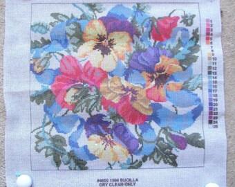 Bucilla Needlepoint/Tapestry Canvas: Pansies