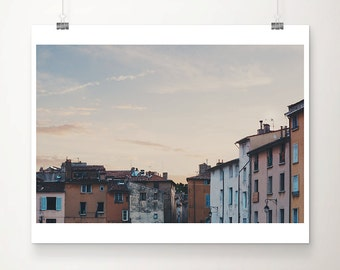 Aix En Provence photograph sunset photograph french decor architecture photograph travel photography france photograph provence print