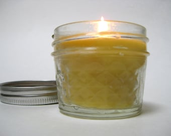 All Natural Beeswax and Coconut Oil Candle 4oz Unscented