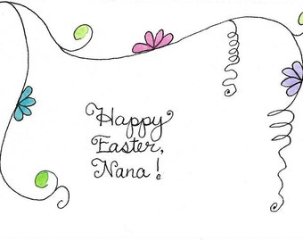 Nana Easter Card Original Watercolor Hand-Painted Hand-Lettered