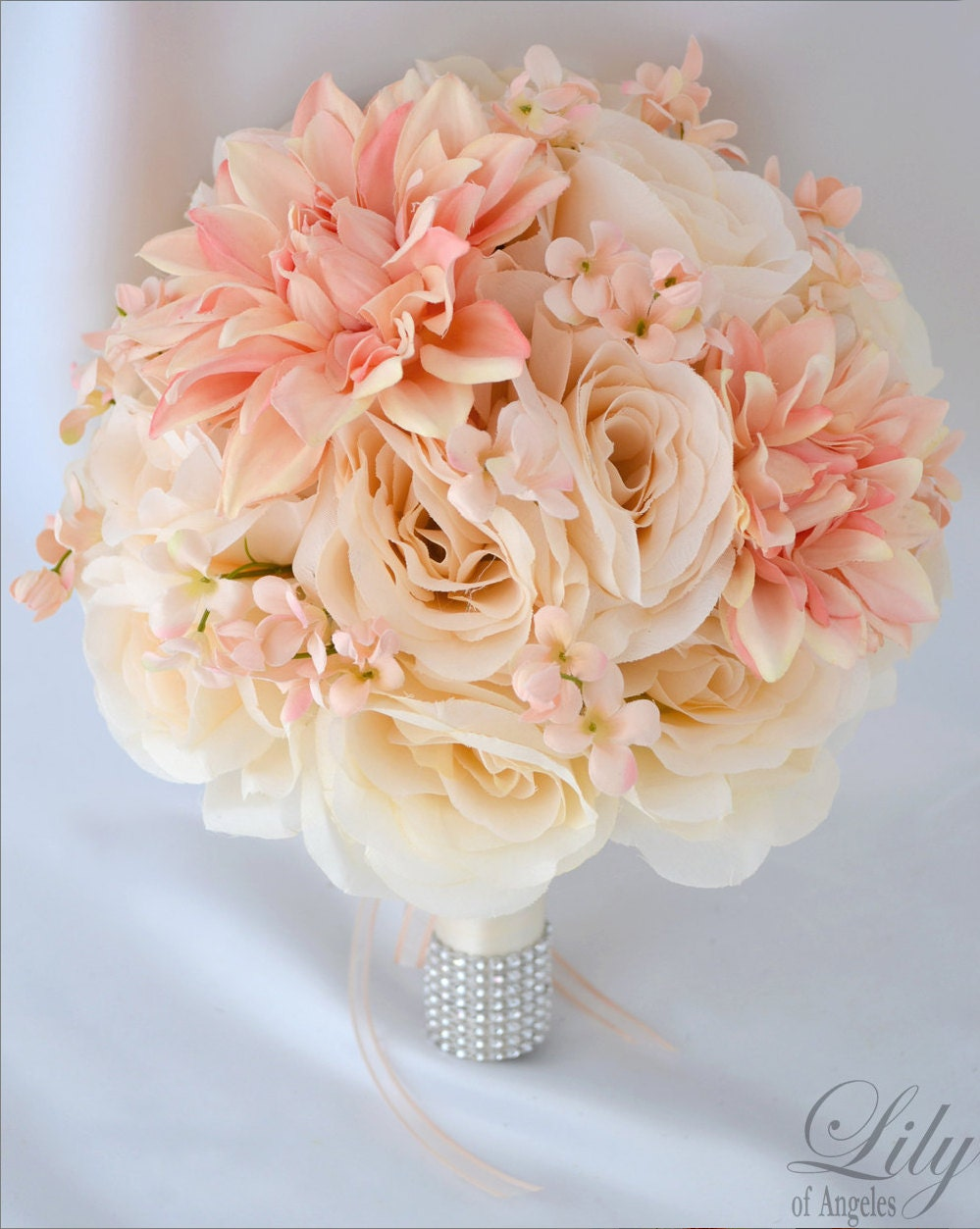 silk wedding bouquets single bouquet silk flower bouquets wedding artificial 7418
