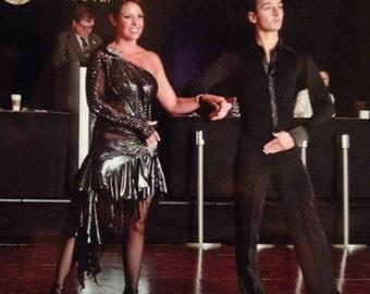 Silver Latin Dance Dress   Salsa Dance Dresses
