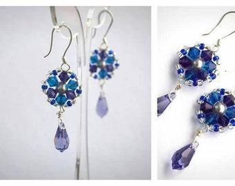 Elegant Swarovski Crystal Drop Earrings