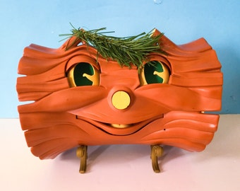 Christmas Singing Yule Log and Santa