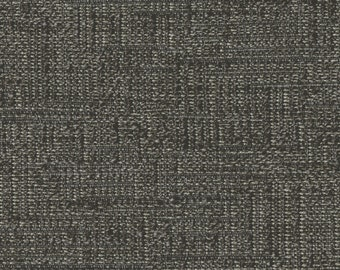 Streamlined Solid Two Tone Weave Upholstery Fabric - Hand-woven Appearance - Light and Airy - Color: Lido Zinc - per yard