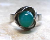 Vintage Modernist Kultaseppa Salovaara Sterling Silver Ring