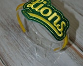 Lions Sports/School Spirit Team Mascot Glitter Headband Slider **Other Teams Available**