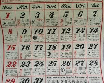 1967 Ramon's Calendar, NOS, Advertising Calendar, Ramon's Pills, Almanac Calendar, Beautiful Graphics
