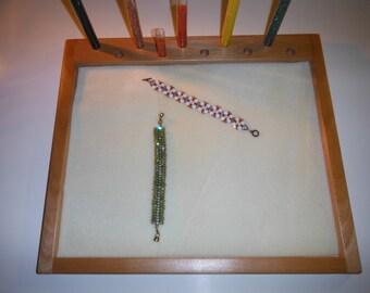 Jewelry making tray, Pen assembly, Craft tray, Beading tray, Carving tray