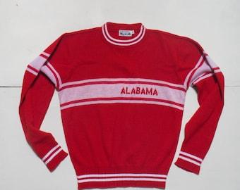 SML   Ladies Red & White Alabama Sweater