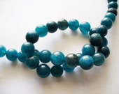 Jade Beads Gemstone Bluish Green  Round 8MM