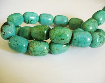 Turquoise Gemstone Beads Barrell 20x16MM