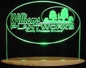 Plants Trees Award Trophy Advertising Company Business Logo SAMPLE ONLY (design not for sale) Acrylic Lighted Edge Lit Led Sign USA Original