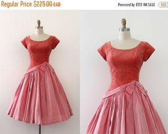 SUMMER SALE vintage 1950s prom dress // 50s pink velvet drop waist evening dress