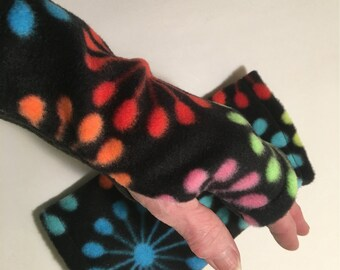 Fleece Fingerless Gloves, Fingerless Mitts, Handwarmers