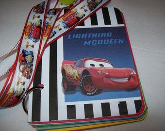 Vacation Autograph Book, Disney Vacation, Premade Autograph Book, Cars Autograph Book,  McQueen Autograph Book, Tow Mater Autograph Book