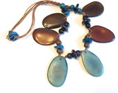 Colorful Sliced Tagua Necklace