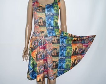 Potter Book Covers Skater Dress (full print) - Made to Order