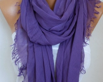 Pale Purple Cotton Soft Scarf,Teacher Gift,Summer Scarf,Pareo,Shawl,Oversized Scarf, Cowl Scarf Gift Ideas for Her Women Fashion Accessories