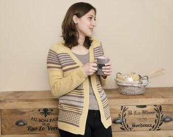 "Knitting pattern for ragaln cardigan ""Clara"""