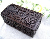 Jewelry box Ring box Wooden box Wood carving boxes Carved wood box Jewellery box Bride gift Jewelry boxes Wedding gifts Wooden boxes B25