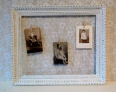 Chicken wire frame, White frame, Large frame, Wedding Frame, Shabby Cottage, Photo display board, Jewlery Holder, Card display