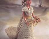 "The Bridal Belle Collection - Miss October - Annie's Attic Crochet Pattern Leaflet for 11 1/2"" Fashion Doll New Condition"