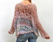 Loose Weave Construction Sweater.