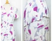 Vintage floral dress // Size M-L