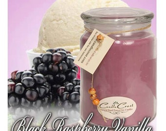 Black Raspberry Vanilla  Soy Candles - Scented Soy Candles - Long Lasting Candles