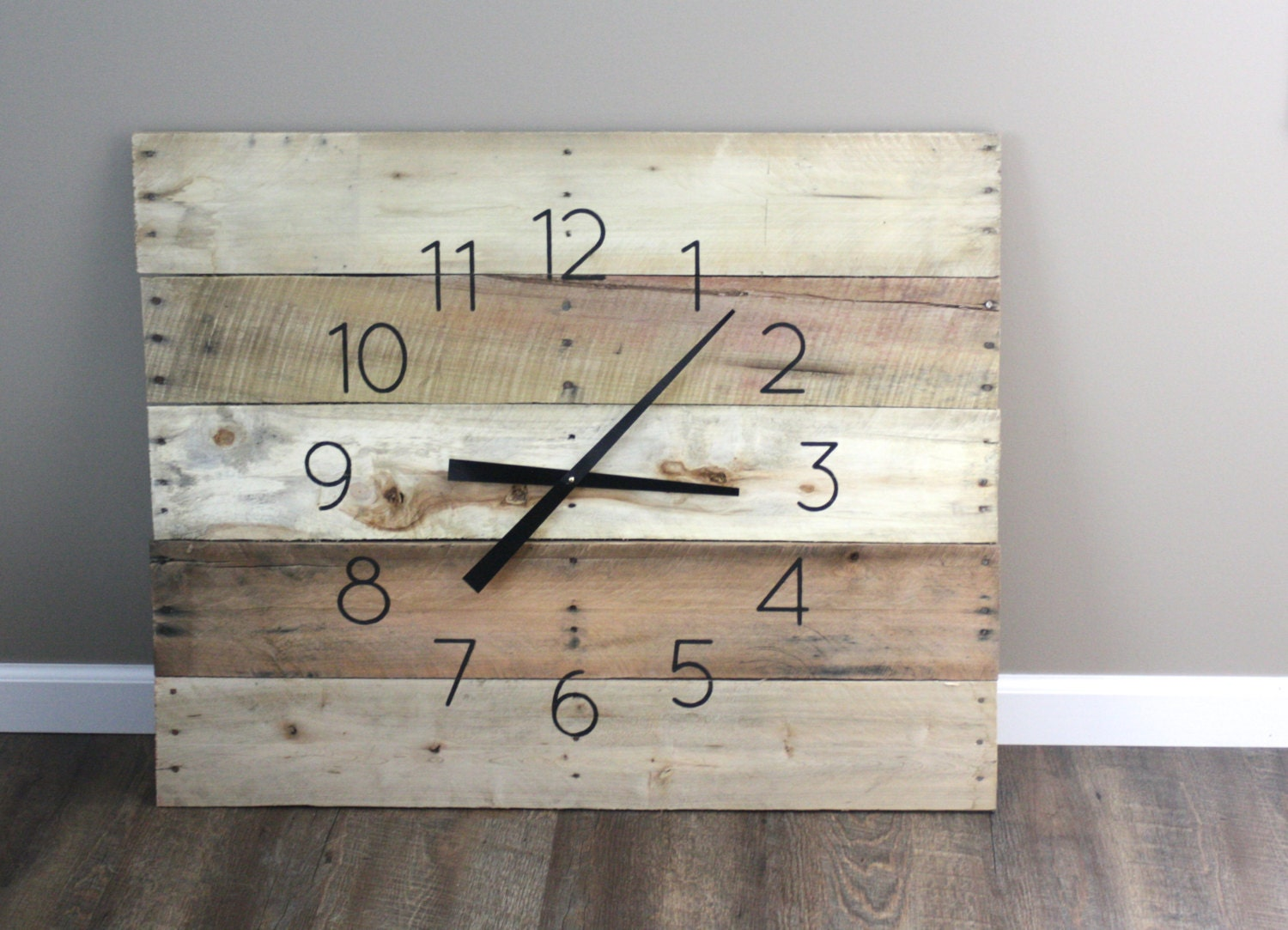 Large clock rectangular 36 by 26 rustic yet large farmhouse clock rectangular 36 by 26 rustic yet modern natural raw amipublicfo Image collections