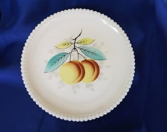 Vintage Milk Glass Westmoreland Plate, Fruit Decor, Decorative Plate, Home Decor, Collectible Glass, Kitchen Decor, Westmoreland Milkglass