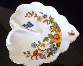 Vintage China Dish - Genuine Bone China - Heart Decor - Hand Painted China - Floral Decor - Home Decor - Decorative Dish - Collectible