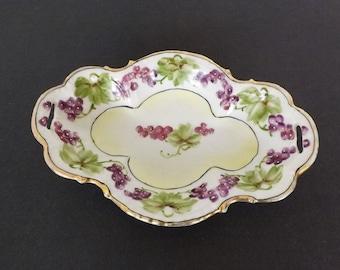 Vintage Haind Painted Decorative Dish, Decorative Porcelain Dish, Home Decor, Living Room Decor, Dining Room and Kitchen Decor