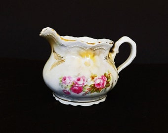Antique Milk Creamer Pitcher, Made in Germany, Leuchtenburg Germany Creamer, Antique Dishes, Kitchen Decor, Dining Room Decor, Serving Dishe