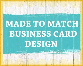Matching Business Card or Thank you card Design, Printable template