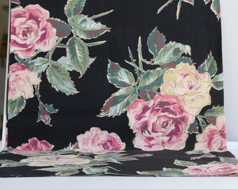 Vintage Floral Fabric Pillow Case Vintage Rose Fabric