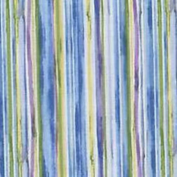 Blue Stripe Fabric/Abstract Fabric/100 Percent Cotton/Quilt Fabric/Apparel Fabric/Craft Fabric/Fabric Sale/Fabric by the YARD ONLY/