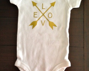 Ready to Ship- Love and Arrows Onesie
