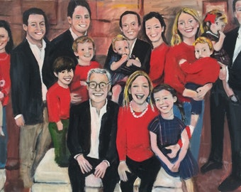 Sold Pat & Richards Beautiful Family Original Oil Painting by Marlene Kurland  Family Oil Painting 24 x 36