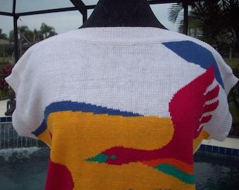 Short Sleeve Knit Sweater by Beldoch Popper