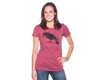 Scarlet Raven Women's T-shirt - 50/50 blend - Crow Shirt
