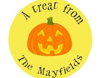 70 Halloween Gift Stickers Personalized By Lollipop Labels perfect for trick or treat bags